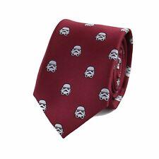 Microfiber Jacquard Stormtrooper Helmet Pattern Necktie Star Wars Movie Necktie