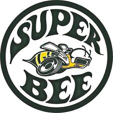 SUPER BEE ROUND DIE-CUT VINYL STICKER REPRODUCTION (style-a)