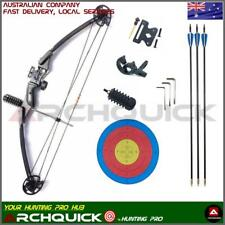 30-40lbs Compound BOW Pack ARCHERY HUNTING Target Arrows Shooting Kits Black