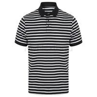Front Row Striped Jersey Polo Shirt