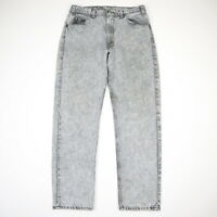 Vtg 80s 90s LEVIs 505 Stone Washed Faded Gray Denim Jeans Grunge USA 32 x 30