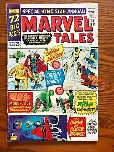 Marvel Tales King Size Annual #2 1st appearance of X-Men,Dr.Strange,Avengers1965