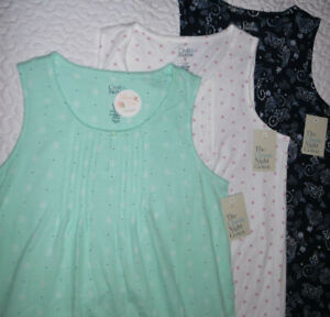 Croft Barrow Pintuck Cotton Blend Sleeveless Short Keyhole Nightgown Sleepwear