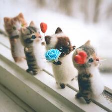 New listing Cute and Interesting handmade toys Diy wool felt cat kits unfinished plush do Mj