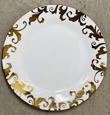 CIROA LUXE METALLIC GOLD FIORI SCROLL SIDE PLATES SET OF 4