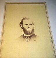 Antique Victorian American Civil War Era Religious Priest! Maryland CDV Photo!