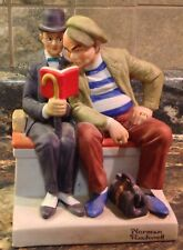 1980 DANBURY MINT NORMAN ROCKWELL PORCELAIN FIGURINE THE INTERLOPER HAND CRAFTED