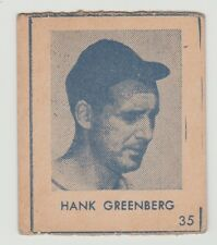 1948 R346 HANK GREENBERG DETROIT TIGERS CARD #35 VERY GOOD CONDITION