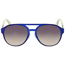 Fendi Pequin Aviator Blue Crystal Dark Grey Shade Sunglasses