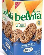 20 belvita Breakfast Biscuits Blueberry Energy Bars Cookies Rolled Oats Foods