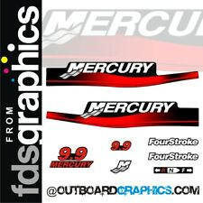 Mercury 9.9hp four stroke outboard decals/sticker kit
