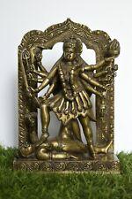 11.5 Inches Bronze Finish Goddess kali Statue - Indian Religious Idol Home Decor