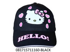 Sanrio Hello Kitty Black One Size Baseball Cap/Hat-1160