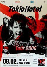TOKIO HOTEL - 2006 - Konzerplakat - Schrei - Tourposter - Bremen