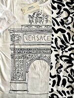 Only 2 Left!!! Versace NWT Unique White Hand-drawn  T-Shirt, Sizes: L, XXL.