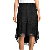 Women's RAMY BROOK Black Lace ROSABELLA High-Low Hem Skirt Size Small $365 new