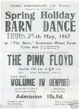 PINK FLOYD Concert Window Poster - 'The Barn' Gwent 1967 - Preprint