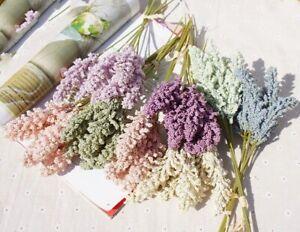 6Pcs Artificial Lavender Fake Flower Bouquet Floral Wedding Home Vase Decoration
