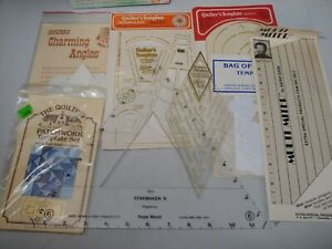 LOT 8 QUILTING QUILTERS TEMPLATES DIAMOND DRESDEN charming angels hearts miter