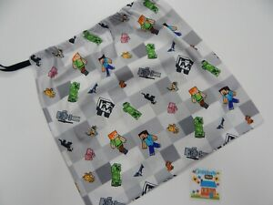 Minecraft Drawstring Tote Library Bag Books Swimming Sleepover