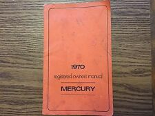 1970 MERCURY MONTEREY 428 OWNERS MANUAL California State Highway Patrol Police