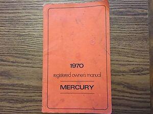 1970 MERCURY MONTEREY 428 OWNERS MANUAL CHIPS Police Interceptor California