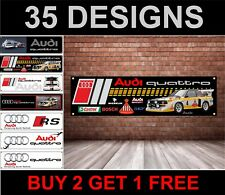 Audi Quattro Rally Car Banner for Workshop, Garage, Group B, HB International