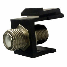 F-81 Coax Keystone Jack Snap-In Insert Cable TV Coupler Connector RG6 RG59 Black