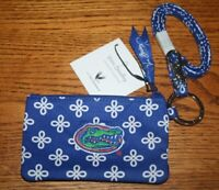 Vera Bradley ZIP ID LANYARD SET UF FLORIDA GATORS orange blue badge holder NEW