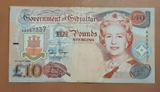 More details for government of gibraltar ten (10) pound note-1995-circulated