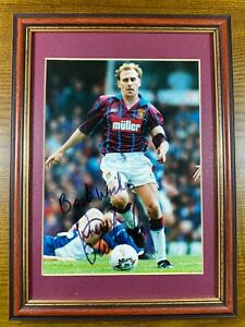 Kevin Richardson Signed Framed & Mounted Photo Aston Villa Personally Acquired