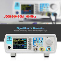 JDS6600-60M DDS Function Signal Generator 1Hz-100MHz Frequency Color LCD Display