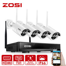 ZOSI 4CH 1080P Wireless CCTV Systems with 4x 960P HD 1.3MP Wireless IP Cameras
