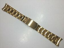 NEW 20MM SOLID GOLD PLATED WATCH BAND BRACELET STRAP FOR ROLEX OYSTER DATEJUST