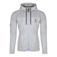 SONY Playstation PS One Logo Technical Hoodie Male Extra Large Grey