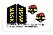 MASK stickers for KENNER M.A.S.K DETONATOR Personalized + BONUS