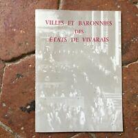 Ciudades Y Baronnies Las Estados De Vivarais Asociación Viva Ardèche 1978
