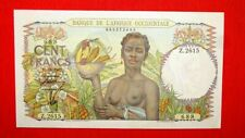 More details for french west africa ad 1947 100 francs ex fine or better rare