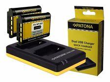 2 x Patona Akku + Dual-Ladegerät für Sony Cyber-shot DSC-RX100 III - NP-BX1