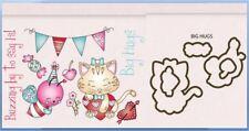 LDRS Creative - Little Darling Clear Stamp & Die set ~ BIG HUGS  Kitten - TLC149