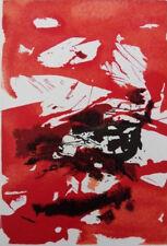 ZAO WOU-KI : Ciel rouge sang - GRAVURE originale #1967 #ART CHINOIS