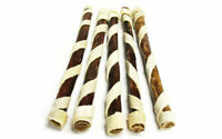 "12"" Spiral Chewy Bulls 5 Pk - Natural Dog Chew Bully Sticks USDA & FDA Approved"