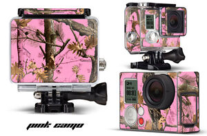 Skin Stickers for GoPro Hero 3+ Camera & Case Decal HERO3+ Go Pro PINK CAMO