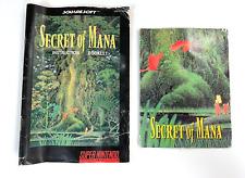 Secret of Mana SUPER NINTENDO SNES Poster Map Fold Out & Instruction Manual RARE