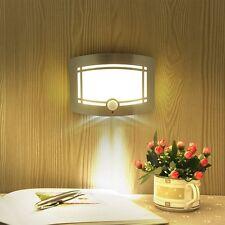 Wireless PIR Body Motion Sensor LED Wall Lamp Battery Power Night Light White