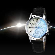 Herren uhren Geneva Big Dial Designer Chronographen Leder Casual Quarz Uhr Watch
