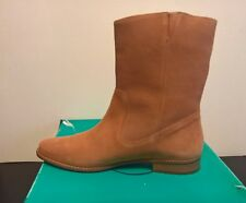 Jack Rogers Women's Kaitlin Tan Suede Leather Short Pull On Boots Size 9 1/2 M