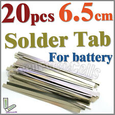 20 pcs 6.5cm Solder Tab For Sub C AA AAA 14500 18650 Battery Cell