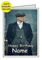 PEAKY BLINDERS Personalised INSIDE AND OUTSIDE Handmade BIRTHDAY Card..THANK YOU