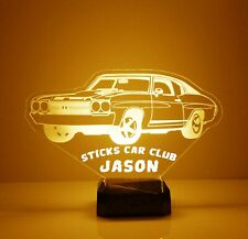 Classic Car LED Night Light - Personalized FREE - 16 Color LED w/ Remote